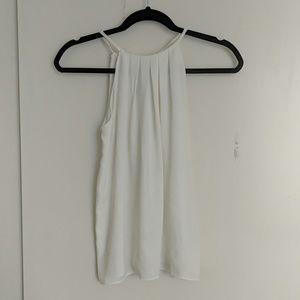 Basic white halter cami